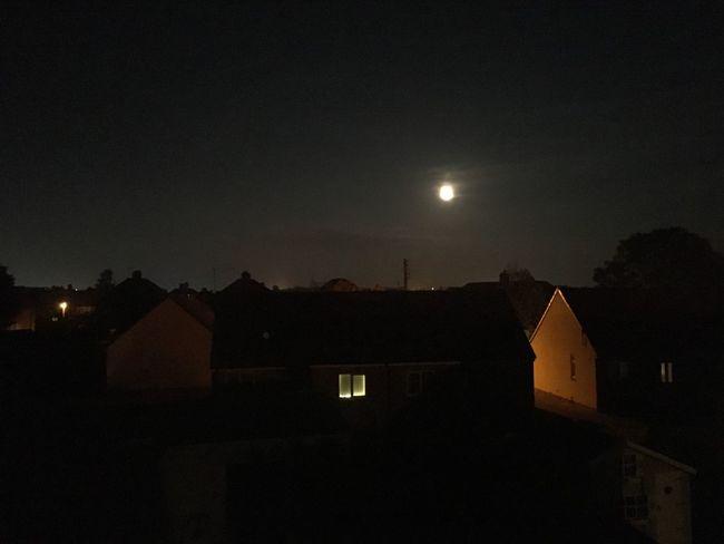 Moon Night Silhouette Dark House