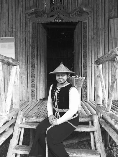 Blackandwhite Kadazandusun Tradition Traditional Traditional Clothing Culture And Tradition Hat One Young Woman Only One Person Adults Only Young Adult Old-fashioned One Woman Only Sitting Only Women Door Fashion Wood - Material Portrait Beautiful Woman Gramophone Love Yourself Inner Power The Portraitist - 2018 EyeEm Awards The Photojournalist - 2018 EyeEm Awards