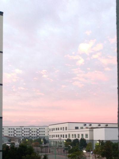 Looking Through Window Day Sky School