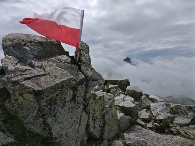 Flag Cloud - Sky Outdoors No People Day Sky Nature Tatra Mountains Clouds Obscured View Nature Adventure Landscape Mountain Fog Poland Summit Summit View Rocks Windy Hiking