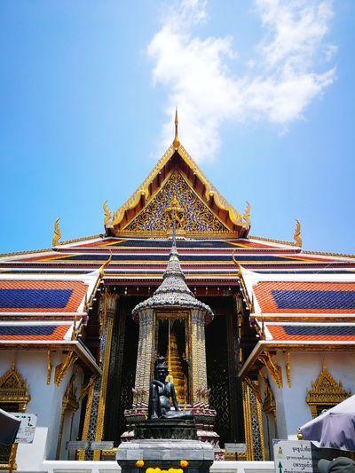 grandiose Thailand Songkran Festival Bangkok Asian  City King - Royal Person Place Of Worship Religion Sky Architecture Royalty Historic Buddhist Temple