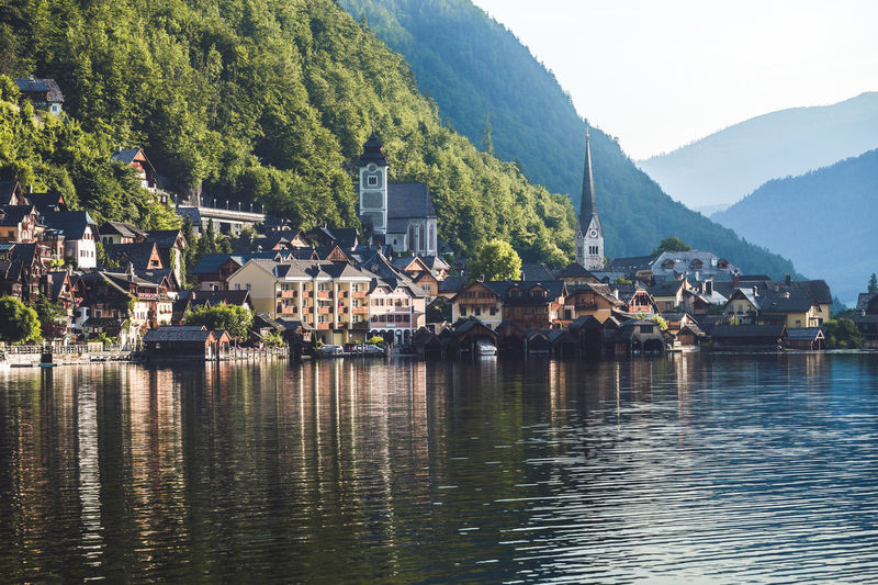 Hallstatt Architecture Water Mountain Built Structure Building Exterior Building Waterfront House Residential District Nature Plant Tree River Town Sky No People Day City Beauty In Nature Outdoors TOWNSCAPE Salzkammergut Village Scenics
