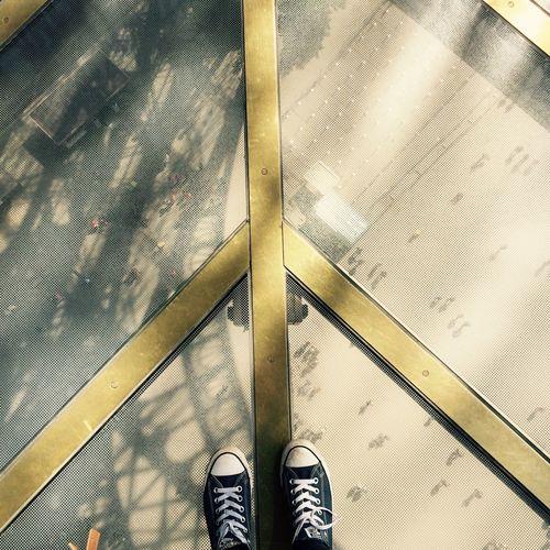 Paris Eiffel Tower High Glass Peace Feetselfie