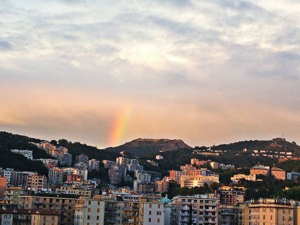 Calmafterthestorm Rainbow Aftertherain Afterthestorm  Roomwithaview Clouds Genoa Joytothecity Taking Photos Amazing