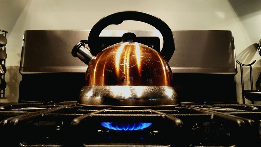 Teapot Fire Copper  Hot Water Kitchen Housewares Angles Stovetop Tea And Coffee