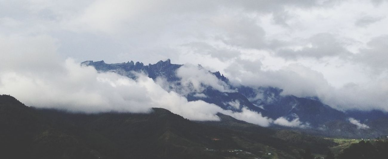 Mount Kinabalu Clouds Scenery Mountains