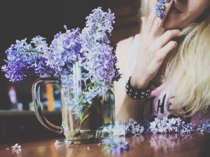Happy weekend:) Selfietime Flowerporn Lillac Purple Being Silly Cheers!