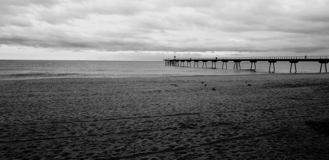 Blackandwhite Blancoynegro Landscape Landscape_Collection Paisaje Playa Beachphotography Beach Beach Sea Sand Sky Landscape Cloud - Sky My Best Photo
