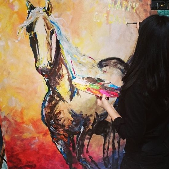 Happyvalley Art Horse Painting