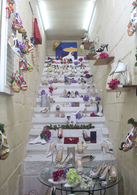 Love shoes Ladies Shoes Sandals Large Choice Variety Shoe Exibition Stairways Stairway To Heaven Fashion Elegance And Beauty Heels High Heels High Heels ❤ Feminine  Femininity Bright White Decoration Clutch Shop Nobody No People Indoors  Flower Illuminated