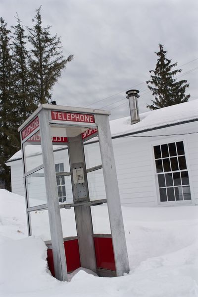 Leicacamera Old Phone Booth Out Of Place  Phone Booth Snowy Days... Surrealism Telephone Telephone Booth Vermont Vermont_scenery