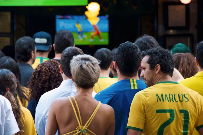 here's looking at you, kid World Cup World Cup 2018 Urban City Life Group Of People Adult Sport Rear View Crowd Women Real People Clothing People Men Togetherness Watching Lifestyles Communication Group Love The Game