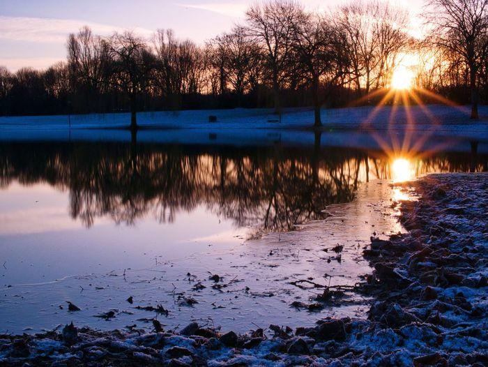 Good Morning Sunshine Reflection Lake Water Nature Beauty In Nature Scenics Sky Idyllic Outdoors Sunlight