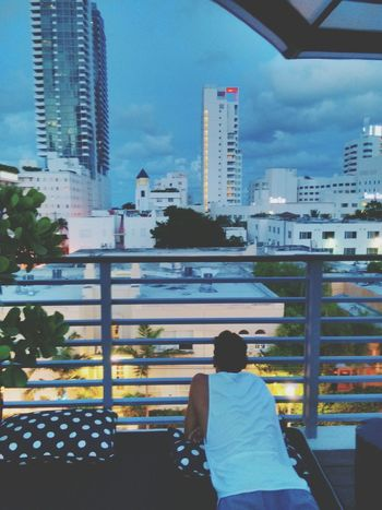 City Lights of Miami Beach at Sunset, Last Summer