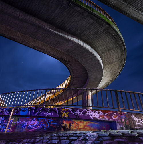 Bridge At Sixes And Sevens Bridge Cement+ Color Colorful Curve Graffiti Graffiti Art Light Long Exposure Night Scene No People Outdoors Shadow Sky Town Water