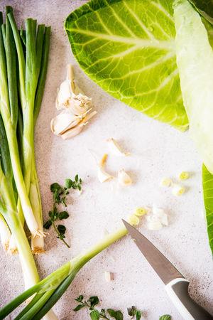 Freshness Garlic Plant Healthy Eating Preparation  Still Life Vegetable Vegetables