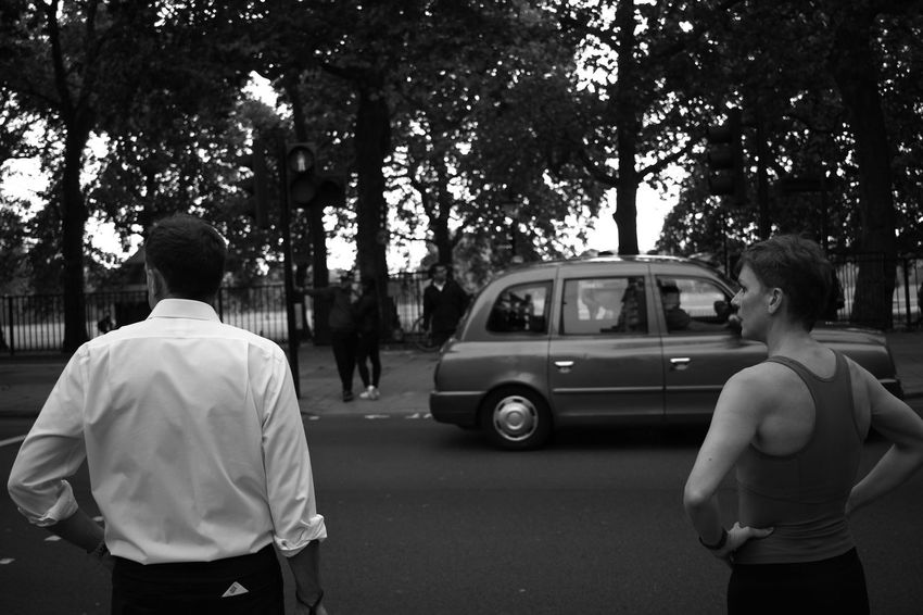 Tree Rear View People Car Adult Street Men Outdoors Only Men Adults Only Day Road Standing Two People Real People Togetherness City BackLondon Nature Monochrome Bwcollection Black And White Collection  Discover Berlin The Week On EyeEm EyeEmNewHere Connected By Travel This Is Masculinity Summer Exploratorium
