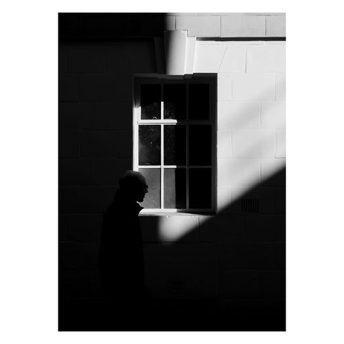 Streetphoto_bw Street Photography Streetphotography Street Black & White Black And White Blackandwhite Window Building Exterior Real People Men Silhouette Day Outdoors Wall - Building Feature One Person EyeEm Best Shots EyeEm Selects EyeEm Gallery Silhouette