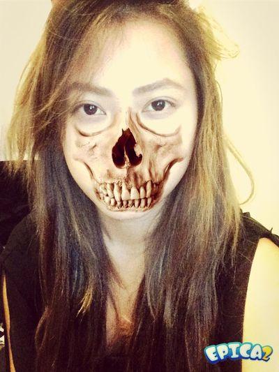 Halloweenn passed but not my mood Girl Skull Make Up