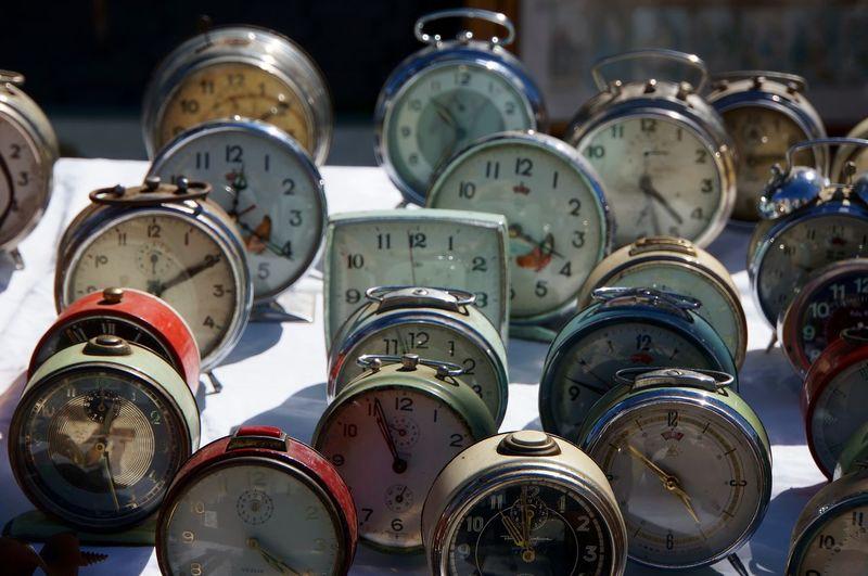 Close-up of clocks