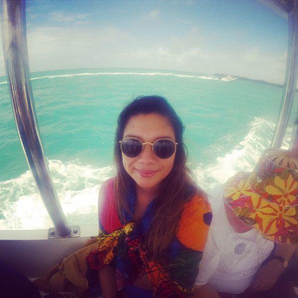Chilling Sun Selfie Girl