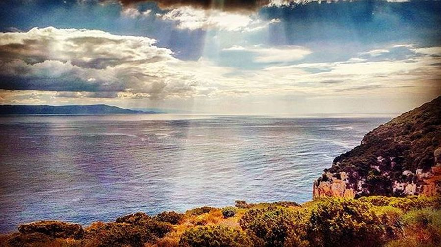 Sardinia Sardegna Italy Earth Photography Colours Photooftheday Instapic Instagood Instadaily Travel Like4like Scenery Nature Luxury Lifestyle Sun Rays Beautiful Horizon Landscape Destination Magnificent View Amazing location sea hill clouds