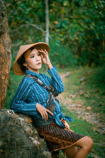 Javanese girl on the street