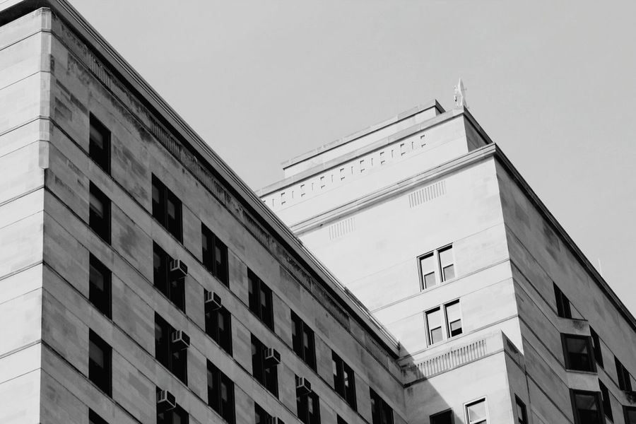 Architecture Building Exterior Public Building Built Structure Low Angle View Blackandwhite Photography The Architect - 2017 EyeEm Awards