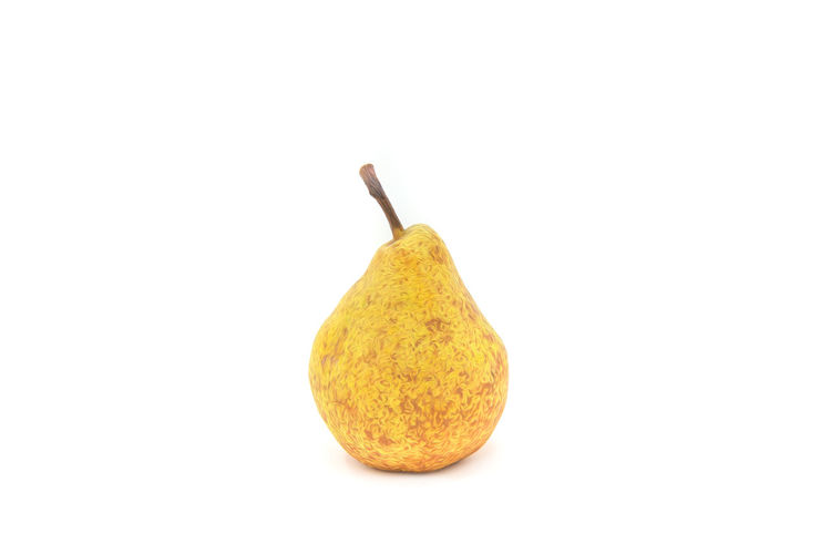 Pear with oil painting effect Food Food And Drink Healthy Eating Studio Shot White Background Fruit Freshness Indoors  Wellbeing Cut Out Pear Yellow Close-up Still Life Copy Space No People Single Object Tropical Fruit Citrus Fruit Ripe Temptation
