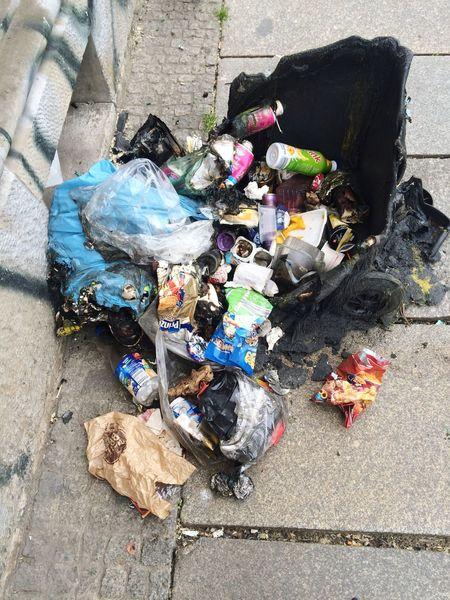 Trash Hipster Glasses Riot Rampage  Melted Molten Black Barrel Plastic Burning Plastic
