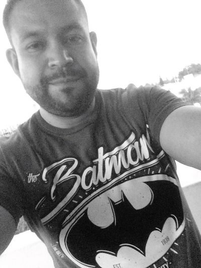 Text Front View T-shirt Casual Clothing Leisure Activity Communication Portrait Day One Person Looking At Camera Lifestyles Happiness Smiling Outdoors Close-up One Man Only Young Adult Sky Only Men Adult Batman ❤ Teambatman