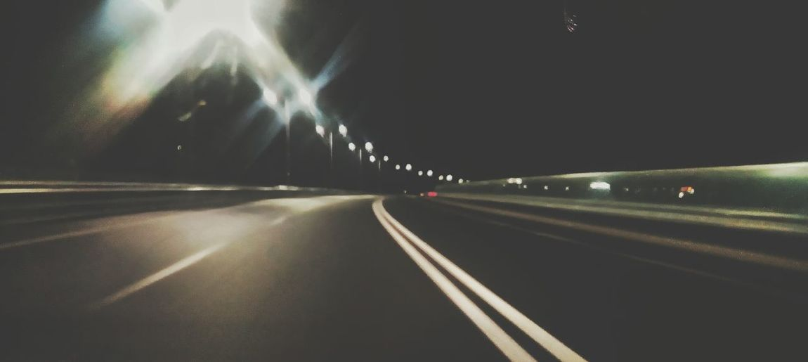 Need For Speed Enjoy Night Night Photography Car Drive Car Auto Road Empty Road Relaxing Drive Home Speed
