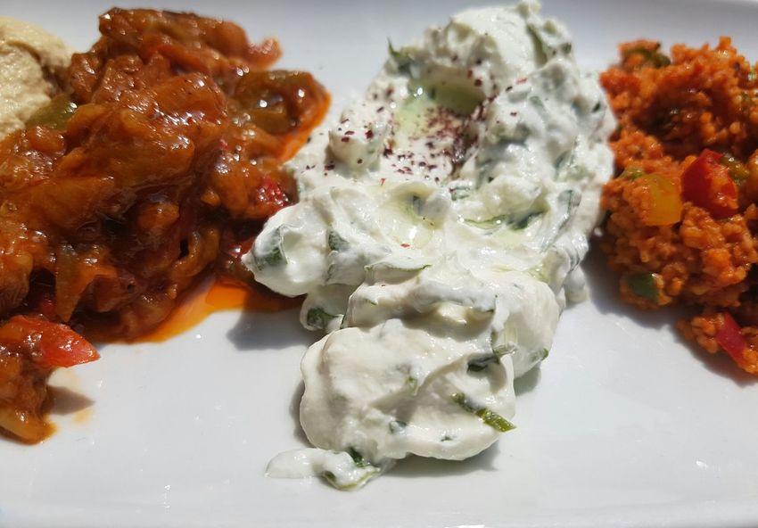 Tzatziki Cous Cous Babaganoush Turkish Food Meze Lunch