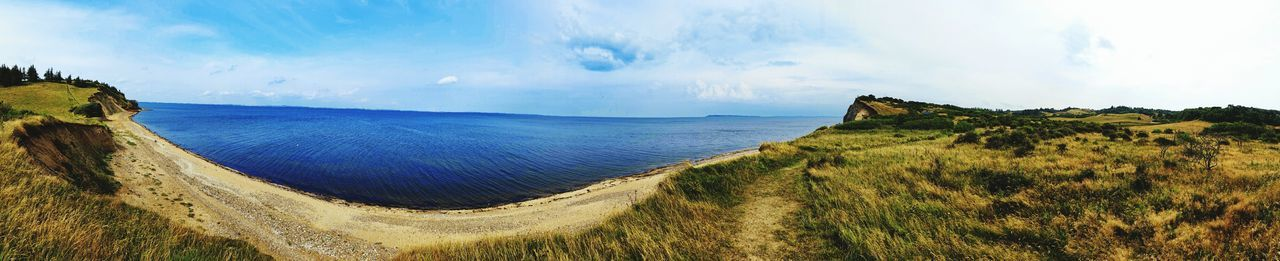 The beach... Panorama Ocean Sea Landscape Nature Outdoors Fur Denmark Danish Nature Beach Sky Cloud Water Island Sand Grass Tree 360° Vacation Trip Memmories Taking Photos Enjoying Life Relaxing Out For A Walk