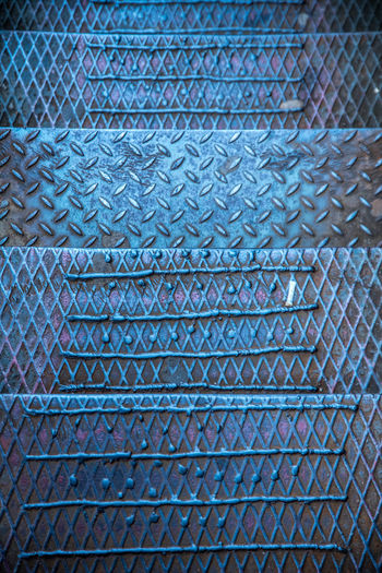 Urbex - 28 Full Frame Backgrounds Pattern No People Close-up Textured  Day Repetition Indoors  Blue Architecture Metal Built Structure Abstract Design Textile Roof Sheet Metal Nature