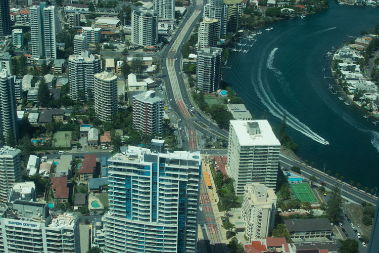 High Angle View Of Gold Coast