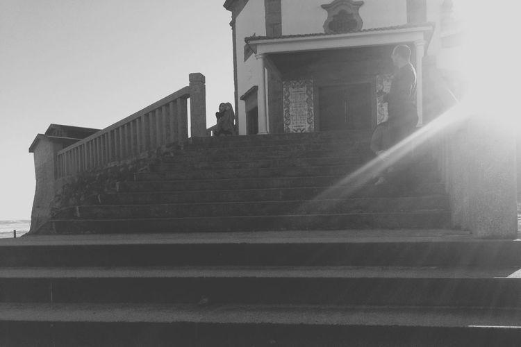 Escaleras Subir Bajar Sea Contraluz