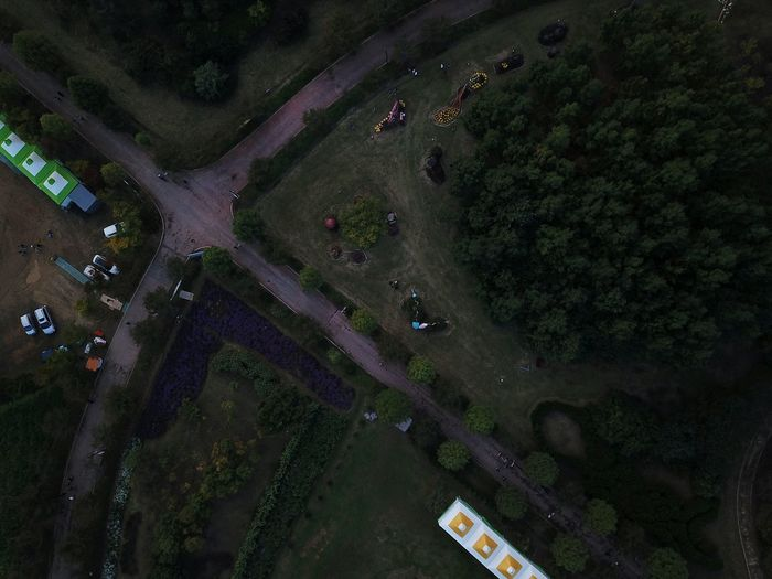 Themapark Beauty In Nature Flower Park Traveling Flower Garden Droneshot Bird Eye View Tree Rural Scene Aerial View Water Social Issues High Angle View Drone  Landscape