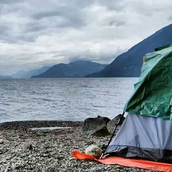 Harrison East Camping Harrison Tent Lake 4wheel clouds overcastbutbeautiful view relaxing