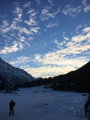 Beauty In Nature Cloud - Sky Cold Temperature Mountain Nature Outdoors Silhouette Sky Snow Snowcapped Mountain Winter