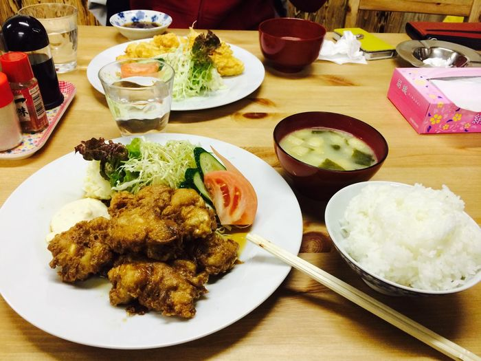 Dinner with my friends Dinner Fried Chicken Japanese Food Delicious