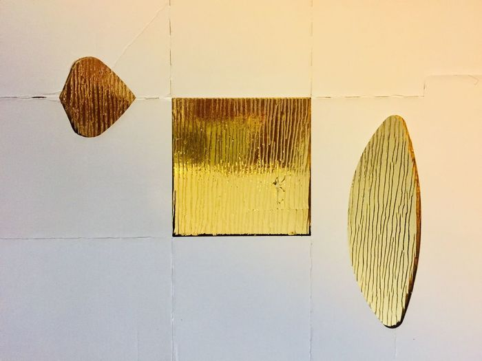 Wall - Building Feature No People Art And Craft Indoors  Close-up Hanging Still Life Creativity Pattern Yellow Wall Craft