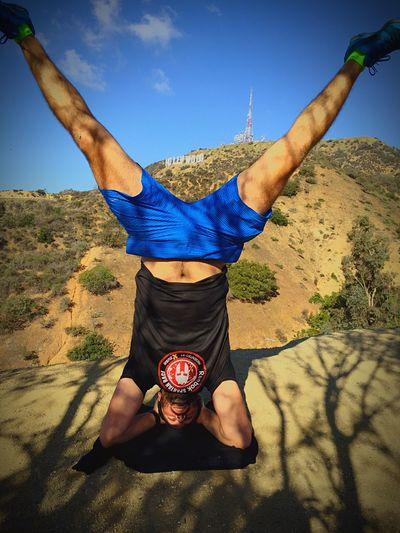 Hollywood Hiking Yoga Headstand