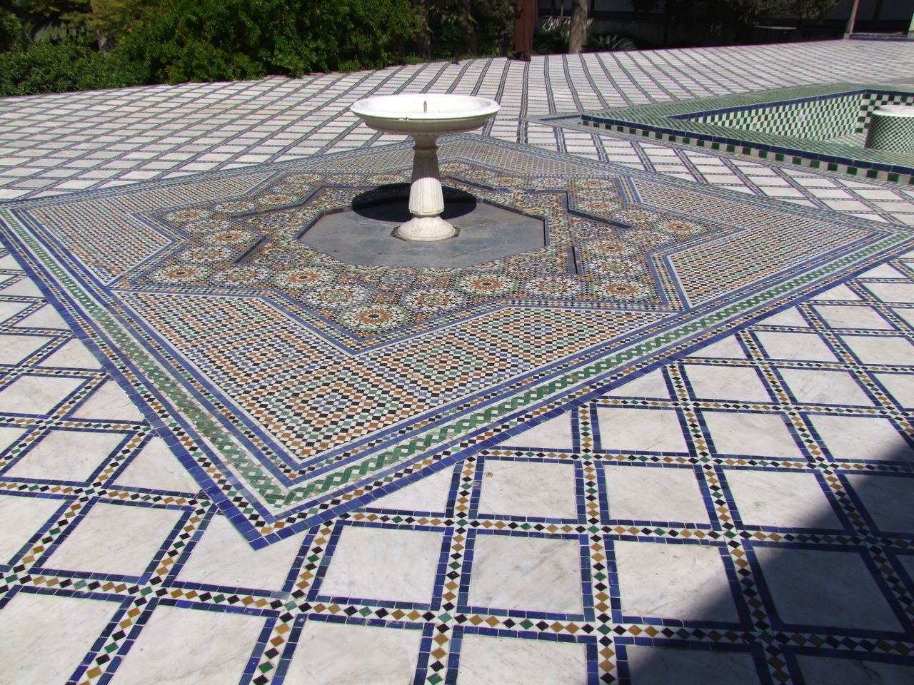 pattern, day, mosaic, table, outdoors, no people, water