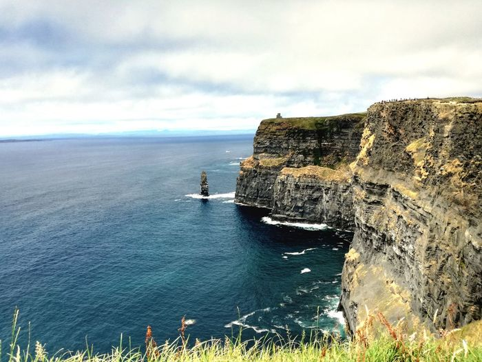 The Cliff of Moher, Ireland. Rocky Coastline Cliff Rock Formation Eroded Geology Wake - Water Coastline First Eyeem Photo