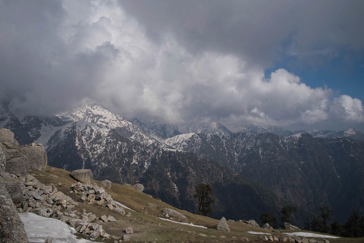 A fine morning at Triund Hill, Dharamshala Beauty In Nature Clouds Cold Temperature Dhauladhar Hill India Landscape Mountain Mountain Range Nature No People Outdoors Scenics Snow First Eyeem Photo