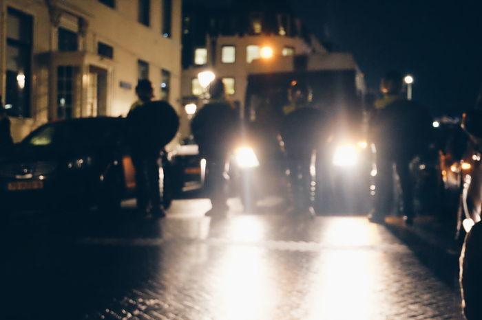 The Hague Protest Trump Den Haag, Netherlands Police Politie City Life Dark