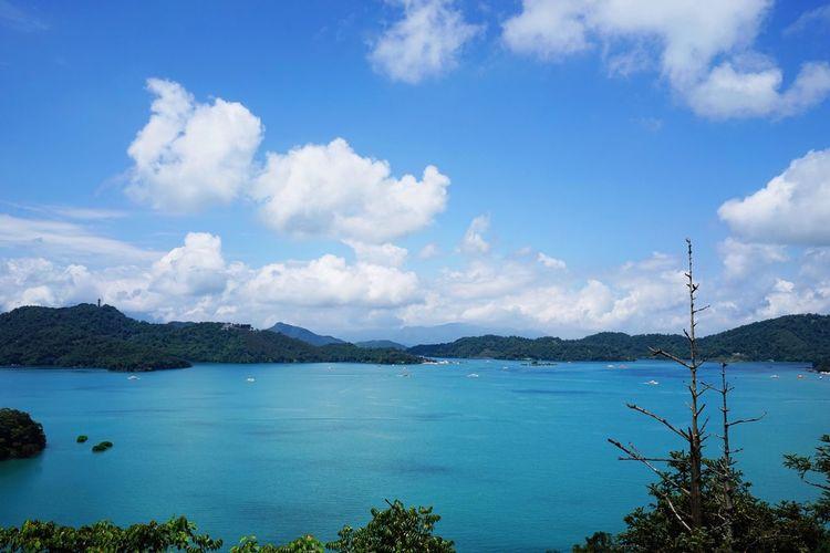 Landscape Scenics Scenery Blue Sky Blue Sky Lake Taiwan 日月潭