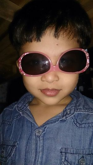 My Baby Cousin ❤ Inverted Sunglasses Chubby Cheeks