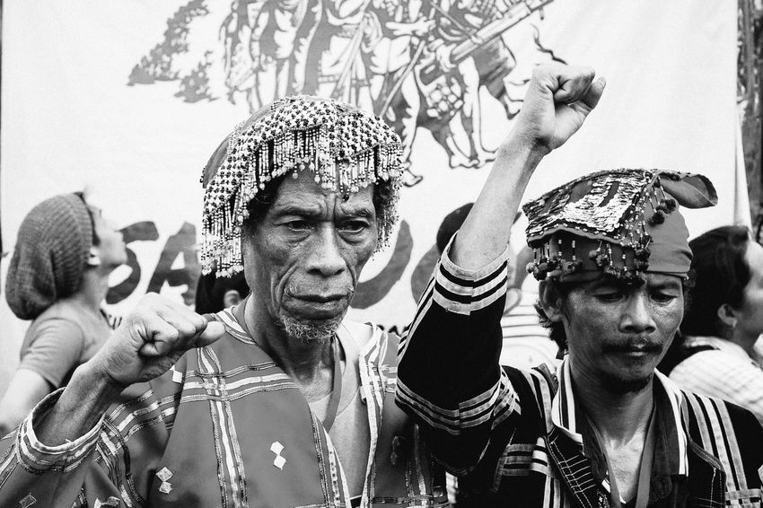 Indigenous Inspiration | Farewell to all our Lumad brothers and sisters. Thank you for teaching us the ways of 'panaghuisa' (solidarity). Continue fighting the good fight and may all your struggles turn into lasting triumph! Arts Culture And Entertainment Culture Human Body Part Arms Raised Close-up Real People Lumad Indigenous People Eyeem Philippines Photojournalism Street Photography People People Watching People Of EyeEm People Photography People And Places People Together Black And White Black & White Black And White Photography Monochrome Monochrome Photography Noir Eyeemphoto My Year My View Resist Break The Mold